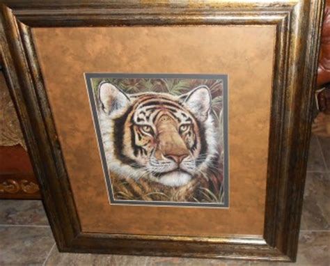 home interior spotted tiger framed print manning ebay