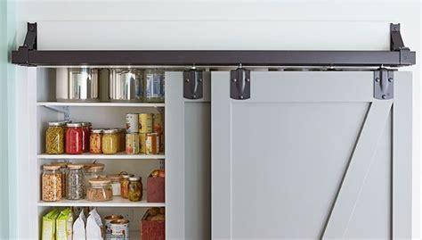 sliding pantry doors  busy visually  bit