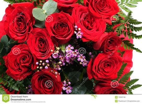 Beautiful Bouquet Of Red Roses Stock Photo   Image: 13263740