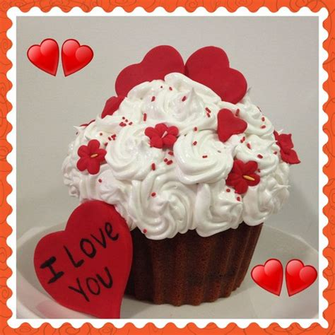 big valentines day cupcake for s day valentines cake ideas