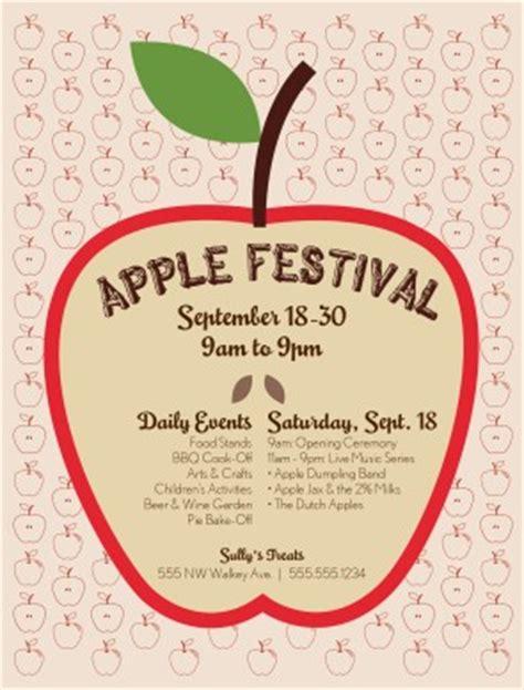 Apple Festival Flyer Restaurant Flyer Flyer Templates For Mac