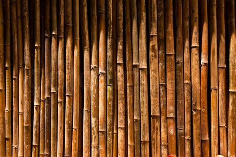 Stick On Wood Wall bamboo wall stock photo colourbox