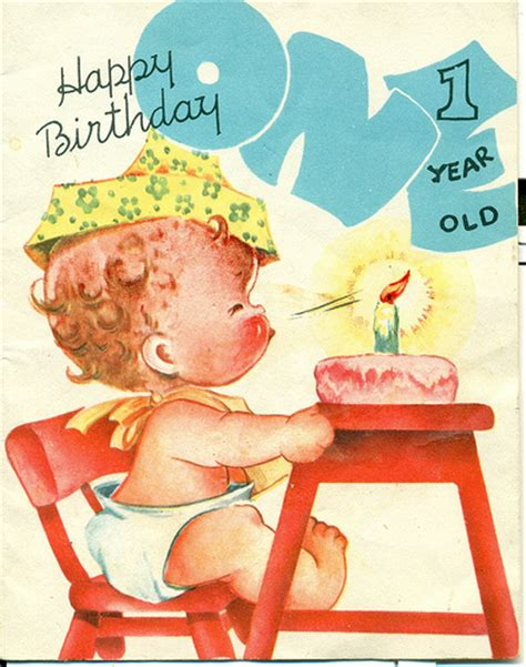 Happy Birthday Card 1 Year Happy Birthday 1 Year Old To A Little Baby Who S As Dear