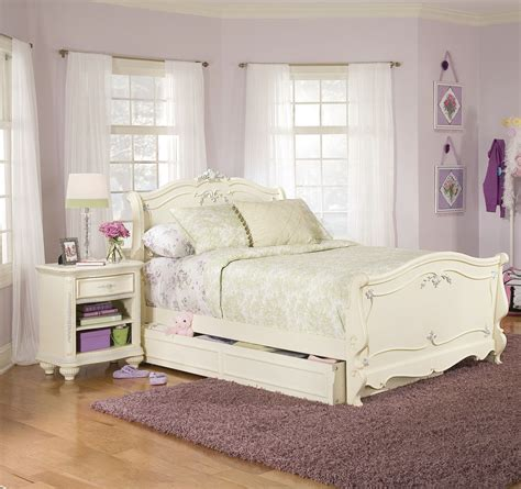 white bedroom set lea jessica mcclintock 2 piece sleigh kids bedroom set in