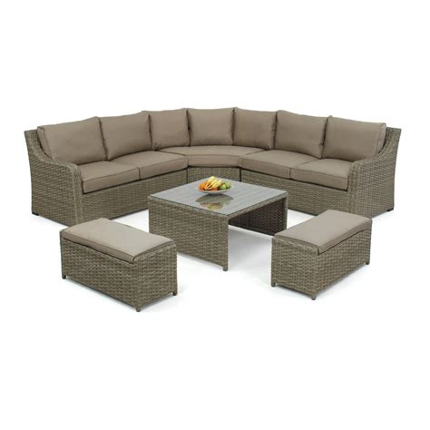 7 Seater Sofa Set by Maze Rattan Milan 7 Seater Sectional Sofa Set With