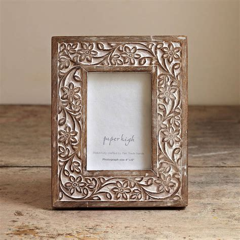 Handcrafted Photo Frames - iksu handcrafted wooden photo frame by paper high