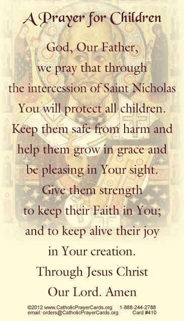 free catholic holy cards catholic prayer cards buy st nicholas prayer for children holy card catholic