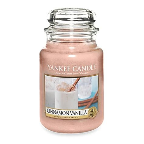 Vanilla Candles by Yankee Candle 174 Cinnamon Vanilla Scented Candles Bed Bath