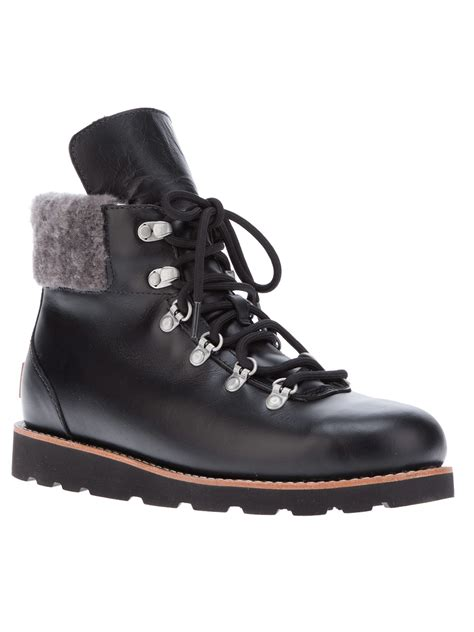 black hiking boots for ugg estelle hiking boot in black lyst