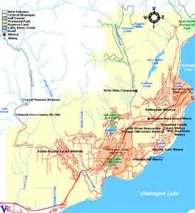 map of west kelowna wineries vineyards