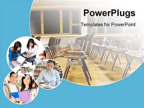 collage of students and classroom powerpoint template