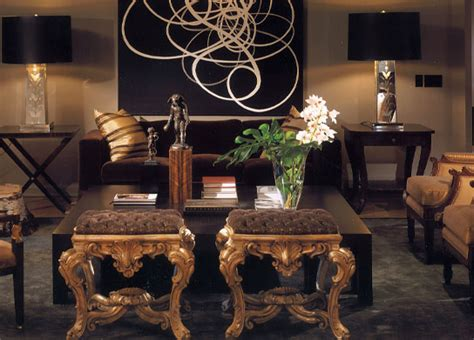 brown and gold living room black and white abstract contemporary living room paul lavoie interior design