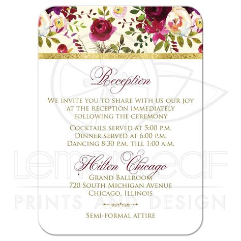 wedding enclosure cards free template beautiful burgundy watercolor flowers wedding insert