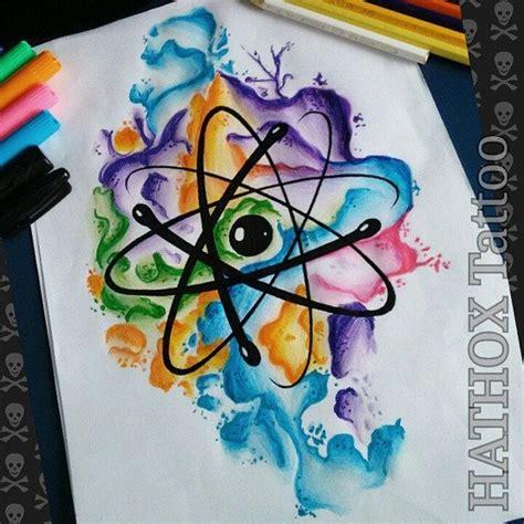 atomo dibujo tatoo 193 tomo estudos para a tattoo do eduardo watercolor