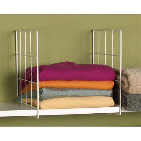 white wire shelf dividers set of 2 in shelf dividers