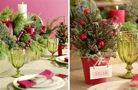 how to set a personalized christmas dining table
