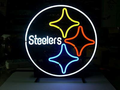 budweiser nfl pittsburgh steelers neon sign   handcrafted  storenvy