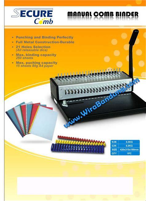 Mesin Jilid Secure Comb A4 jual mesin binding bandung harga mesin jilid kawat mesin