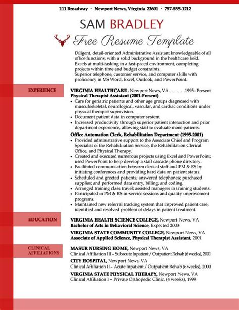 Administrative Assistant Resume Template Resume Templates Free Administrative Assistant Resume Templates