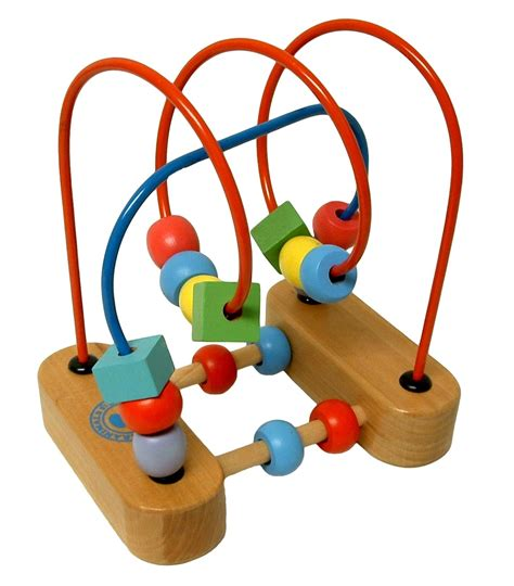 wood bead maze garanimals wooden wire roller coaster baby