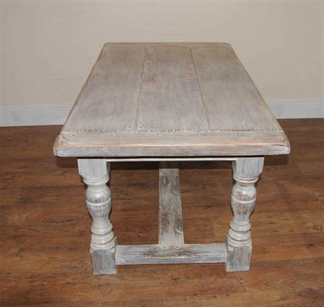 Painted Oak Dining Table Painted Oak Rustic Kitchen Refectory Table Dining