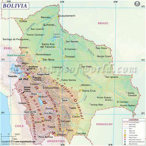 map of bolivia bolivia earthquake map area affected by earthquake in bolivia