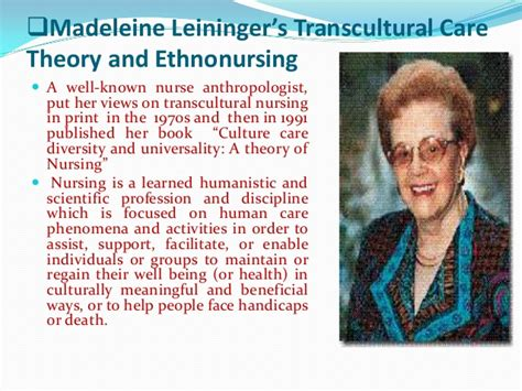 madeleine leininger transcultural nursing theory nursing theory power point