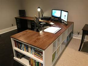 desk diy cubby bookshelf corner desk combo diy projects office