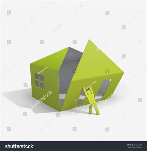 Origami To Buy - origami house builder for your easy stock vector 115522918