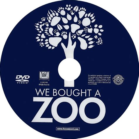 Label We by We Bought A Zoo Scanned Dvd Labels Weboughtazoo 2011