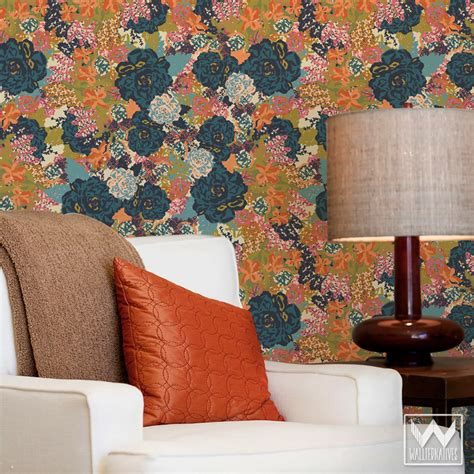 floral removable wallpaper getting creative with wallternatives confettistyle