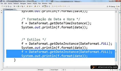 format date using java universidade xti java 070 date formata 231 227 o
