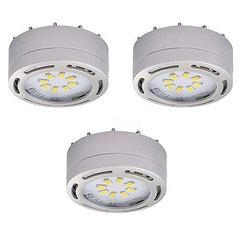 120 volt cabinet lighting led satin nickel 3 puck light kit 120volt recessed or