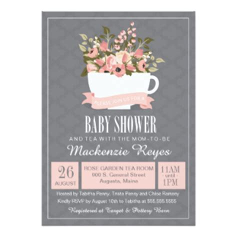 Tea Shower Invitations by Tea Baby Shower Invitations Sorepointrecords
