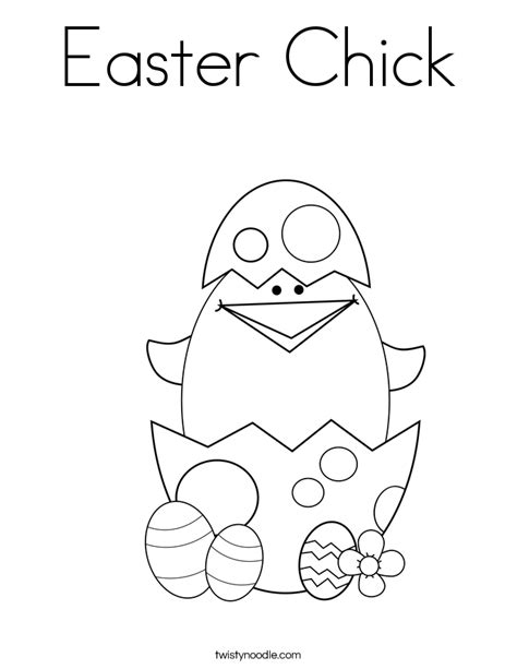 easter chick coloring page twisty noodle