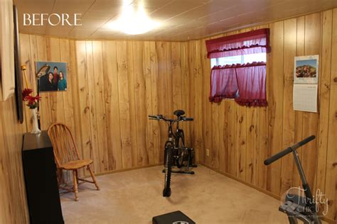 painted wood paneling before and after thrifty and chic diy projects and home decor