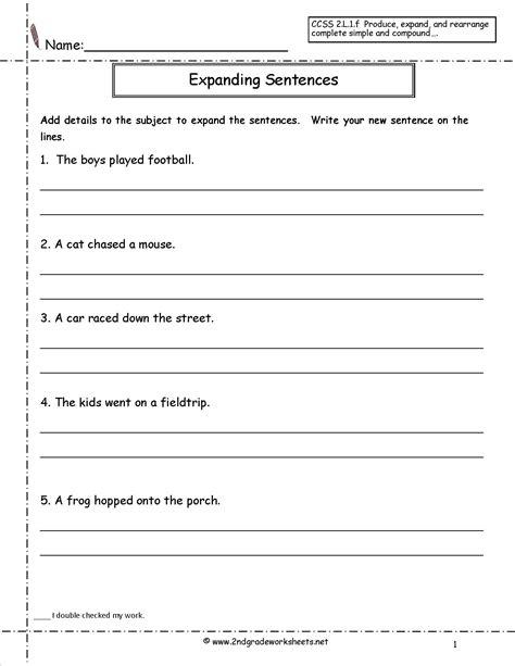 Copying Sentences Worksheets 16 best images of copy sentence worksheet grade