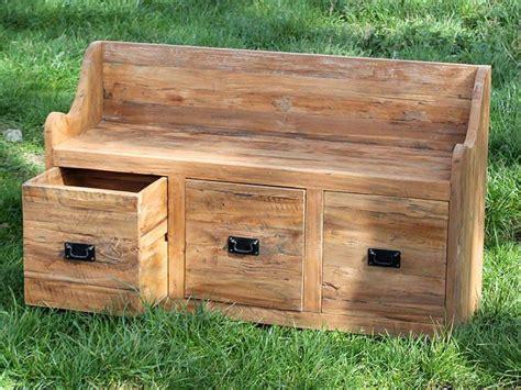 larkin reclaimed teak garden storage bench seat cm