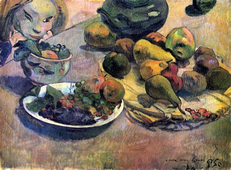 gauguin his life and still life with fruit by paul gauguin