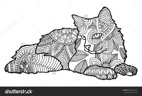 Cat Coloring Pages For Adults by Cat Coloring Pages For Adults Part 4
