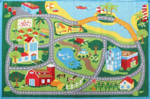 childs rug with roads deco city road roads rug 100x150cm childrens