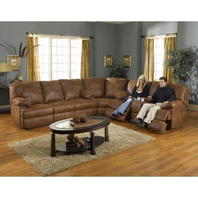 microfiber looks like leather ranger reclining sectional in microfiber