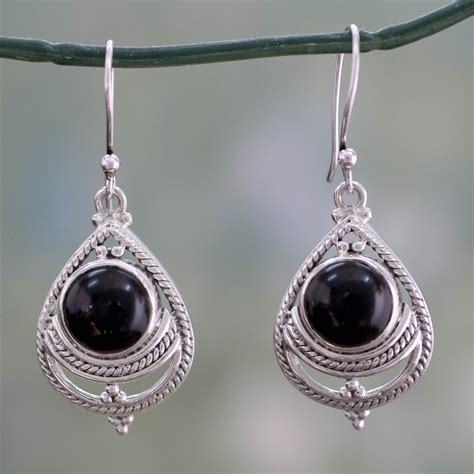 Handmade Silver Earrings Uk - unicef uk market onyx earrings handmade with sterling