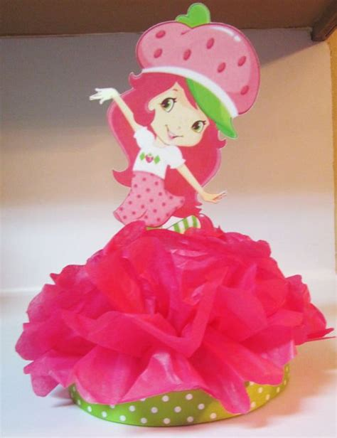 strawberry shortcake centerpiece birthday by