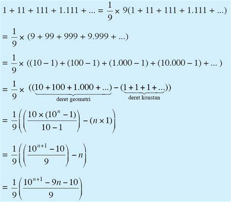contoh soal barisan  deret aritmatika geometri