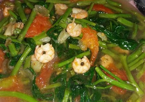resep kangkung cah udang oleh nira  cookpad