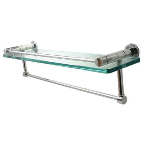 Towel Bar Shelf by Fresno Satin Chrome Gallery Rail Shelf With Towel Bar