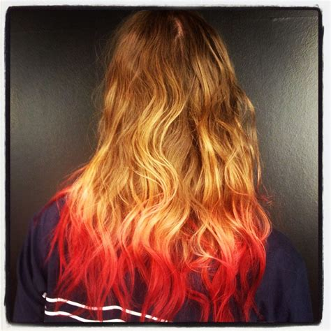 dip dyed red hairstyles brown blonde pink red dip dye hair it d be for ragnar but