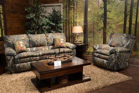 realtree couch trapper reclining sofa in mossy oak or realtree camouflage