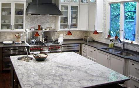 Kitchen Island Granite Countertop by Which Granite Looks Like White Carrara Marble